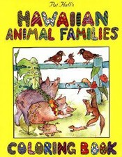 Hawaiian Animal Families Coloring Book