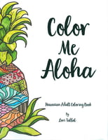 Color Me Aloha -Hawaiian Adult Coloring Book