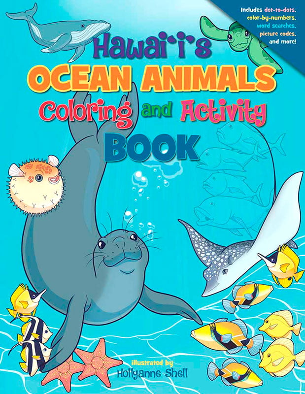- Hawai'i's Ocean Animals Coloring And Activity Book