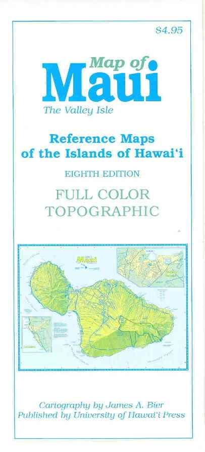 Map of Maui The Valley Isle (8th Edition) Detailed Map Of Maui on