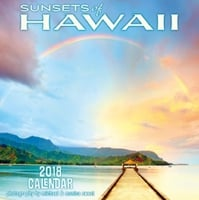 2018 Deluxe Calendar - Sunsets of Hawaii