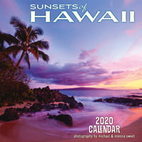 "Calendars Hawaii Sunsets - 11""x11"" Wall Calendar"