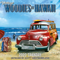 "Calendars Vintage Hawaiian Cars - 11""x11"" Wall Calendar"